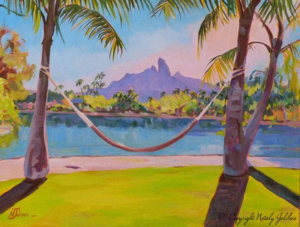 Relaxing in Bora Bora